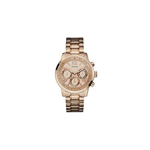 GUESS Dames rosé gouden armband horloge