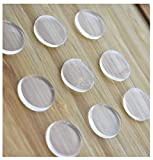 Extremely Soft Clear Glass Table Top Bumper Non-Adhesive,Glass Table Top Spacer,3mm Thickness.20Count