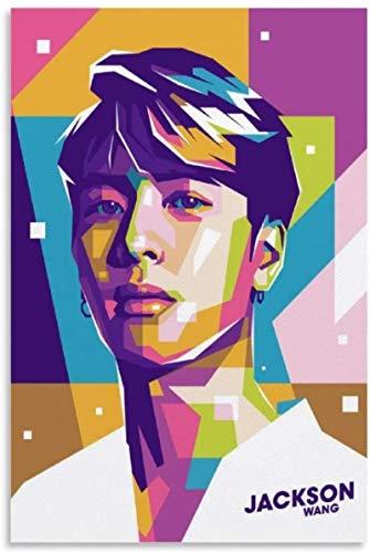 TANXM Lienzos De Fotos 40x60cm Sin Marco Got 7 Jackson Wang póster Decorativo para Sala de Estar Carteles Dormitorio Pintura