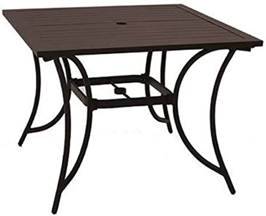 B00MBV7CUW✅Patio Master ALH31312K01 Bellevue 40″ Square Table
