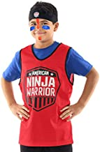 American Ninja Warrior Kids Role Play Set-Headband, Red Jersey, Face Paint - Perfect for ANW Parties, Dress Up, and More - Great Gift for ANW Fans