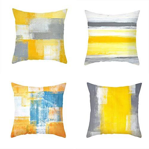 ZYBC Fundas de cojín abstractas de arte artístico, funda de almohada suave y corta, fundas de almohada decorativas contemporáneas para salón, dormitorio, sofá, coche (A)