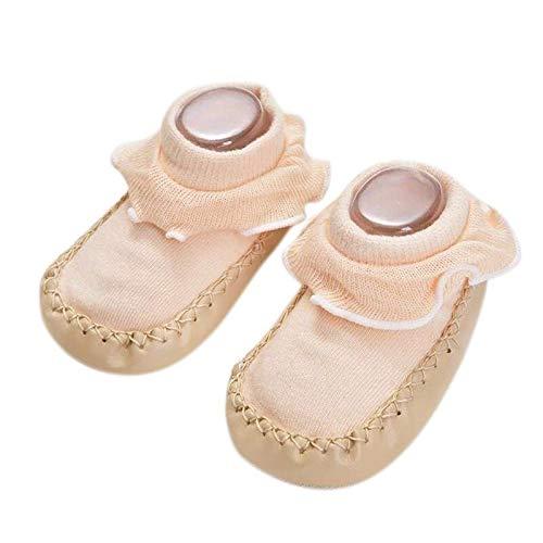CENPEN Verano Muchachas de los bebés de algodón Zapatos Infantiles Calcetines Calientes Lindos Antideslizante de los Zapatos de Piso Calcetines Calentadores de la Pierna (Color : K, Kid Size : 18M)