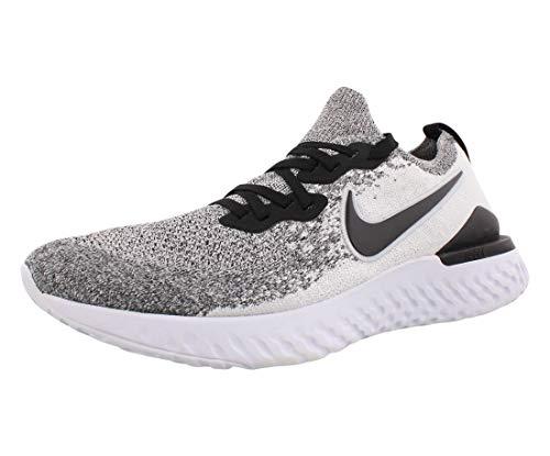 Nike Epic React Flyknit 2 Men's Running Shoe White/Black-Pure Platinum 9.0