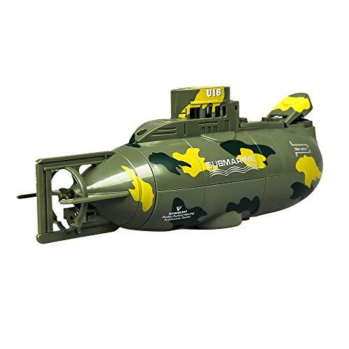 Ledu Mini-6-Kanal-RC-U-Boot, Fernbedienung Boot wasserdicht Modellboot Sommer Kinder Tauchen schnelles Boot Spielzeug,Green