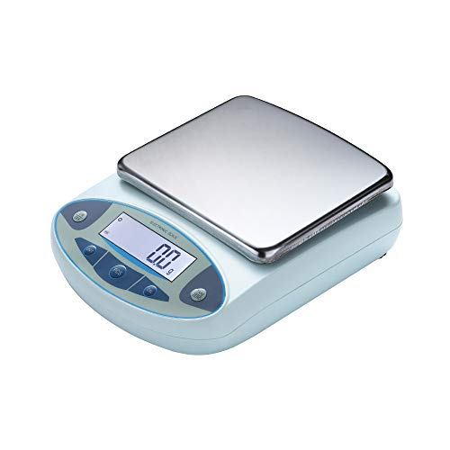 CGOLDENWALL Lab Digital Precision Analytical Balance Lab Scale 0.01g Precision Scale Laboratory Weighing Electronic Balance Jewelry Scales Gold Balance Kitchen Scales Yellow Calibrated 200g