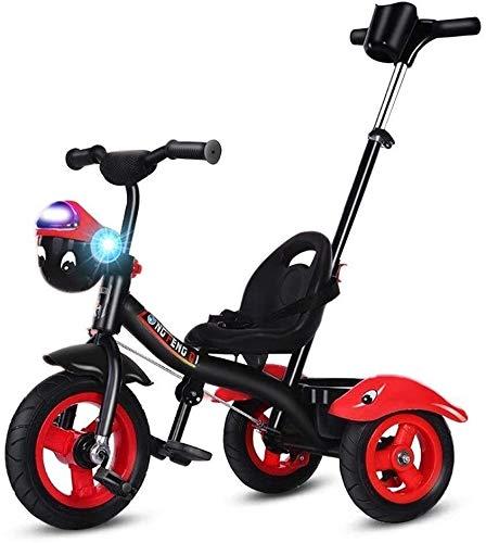 Xiaoyue Fahrräder Kinder Dreirad Kinderwagen-Licht-Fahrrad Kinderspielzeug Kinderwagen (Farbe: Rot, Größe: 76x52x60cm) lalay