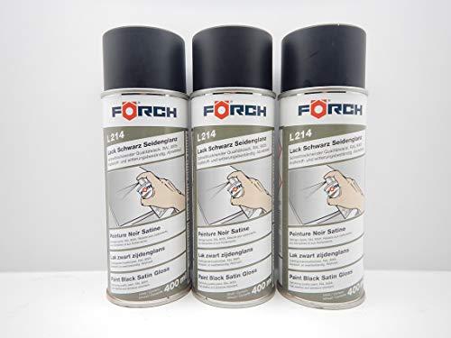 Förch SCHWARZ SEIDENGLÄNZEND RAL 9005 Lack LACKSPRAY Spray SPRAYDOSE 400ML (3)