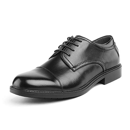 Bruno Marc Men's Downing-01 Black Leather Lined Dress Oxford Shoes Size 12 M US