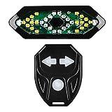 Fahrrad Rücklicht Blinker,Fahrrad Blinklicht Wasserdicht mit Kabelloser Fernbedienung und Hochtöner USB Wiederaufladbare Smart Bike Rücklicht für Mountainbikes MTB