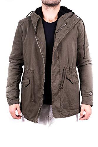 Barone   parka da uomo invernale, giaccone impermeabile, giacca per inverno, giubbotto lungo, giubbino con pelliccia ecologica (S)