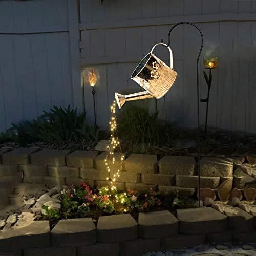 LED Kunstlicht für Garten, Sterndusche, Art Night Lights für Rasen, Lichter, Gießkanne, Deko, für Garten, Außenbereich, Kupferdraht, Feenlampe