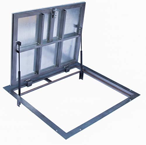 Schachtabdeckung 600mm x 700 mm (P) - Seitenscharniere,Für alle Arten von Oberflächen: Fliesen, Laminat, Parkett und so weiter.