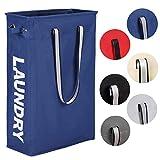 Caroeas Clothes Basket, 24' Handy Hanging Laundry Basket Tall & Slim Hamper Waterproof Laundry Bag...