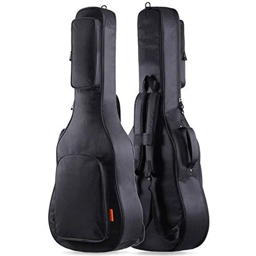 Gleam Gitarrentasche Gitarren Taschen - dicker 15 mm Schwamm Polsterung Passform 41 inch Akustik Tasche mit zwei großen – wasserdicht