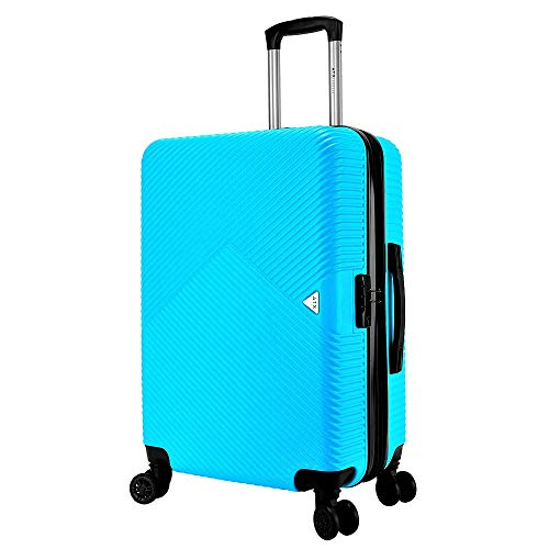 ATX Luggage 28 inch Large Super Lightweight Durable Expandable ABS Hardshell Hold Suitcases Trolley Case Hold Check in Travel Bags with 8 Wheels & Built-in Lock (28' Large, Sky Blue)