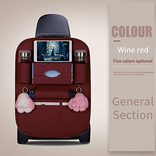 promise2301 Universele multifunctionele achtertas voor autostoelen, multifunctioneel als rugbeschermer voor stoelen, trapmat (2 stijl,5 kleuren) Standard Rode Wijn