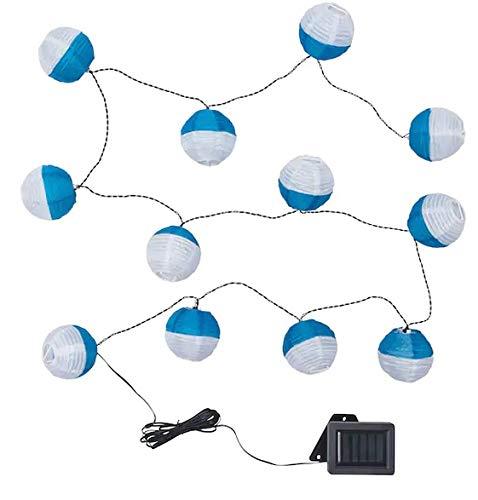 SOLVINDEN +Lichterkette Ikea 12er LED draußen, solarbetrieben blau/weiß