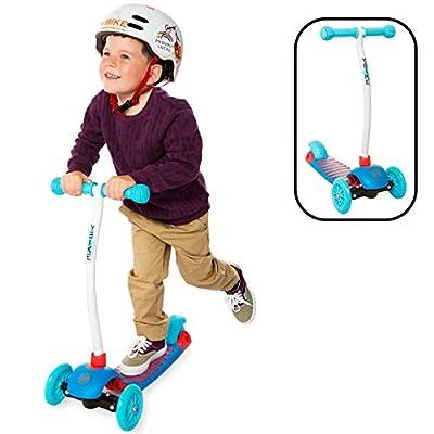 YBIKE Kids GLX Cruze 3 Wheel Kick Scooter, Blue
