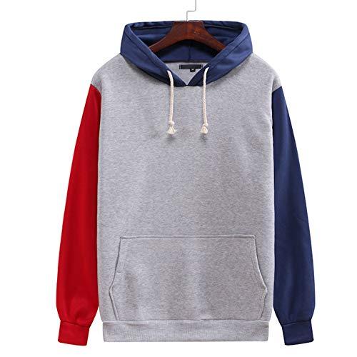 DPGPLP Conjunto de sudadera con capucha, de bloque de color, sudadera con capucha, chaqueta suelta para jóvenes, sudadera con capucha para niños y niñas, talla 1, XL