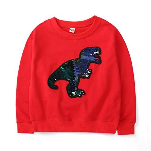 Lee little Angel Pullover Caldo Dinosauro Manica Lunga Felpa per Bambini (3-15 Anni) (130# (7-8 Anni), KLA1)