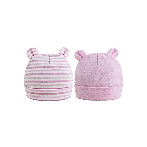 FOMAISELF Sombrero de bebé recién nacido, rosa, 0-6 Meses