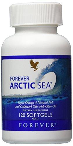 Forever Arctic-Sea super omega-3 natural fish calamari oils with olive oil, 120 soft gels