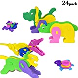 3D Puzzle Foam Craft Kits Animals Party Favor for Kids Birthday 24 Pack (Animal)