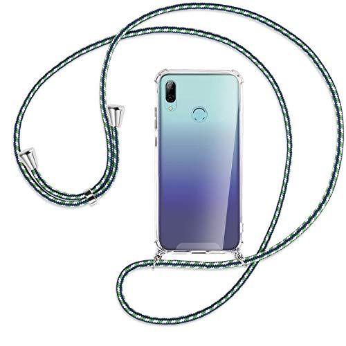 mtb more energy Collar Smartphone para Huawei P Smart 2019 / Honor 10 Lite (6.21'') - marítimo - Funda Protectora ponible - Carcasa Anti Shock con Cuerda