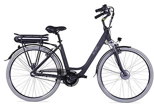 LLOBE City E-Bike Metropolitan Joy schwarz, 28 Zoll, Akku 36V / 10Ah, 250 Watt Motor