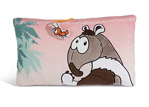 NICI 45265 kussen rechthoekig mierenbeer Anita, 43x25cm, pluizig pluche kussen met motief, bruin