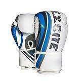 Guantes de Boxeo,Kickboxing Gloves para Adulto Hechos de Cuero Maya Hide Ideales para Kick Boxing Muay Thai Saco Entrenamiento Sparring Adultos Unisex,10 12oz Sparring Guantes,Rojo,Blanco,Negro