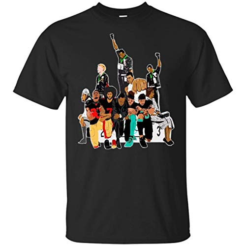NAMACLOSING Colin Kaepernick 1968 Olympics Black Power Peaceful Protest T-Shirt