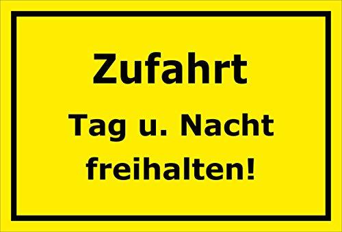 Melis Folienwerkstatt Schild - Zufahrt freihalten - 30x20cm | Bohrlöcher | 3mm Aluverbund – S00065-184-C -20 VAR