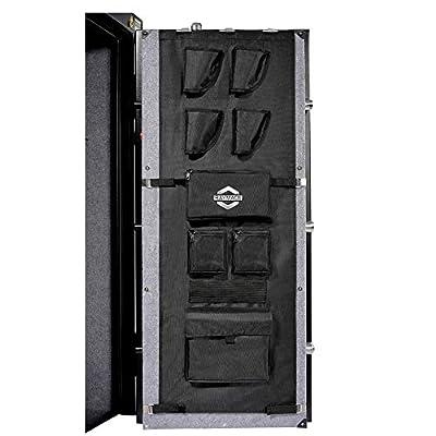 Raymace Gun Safe Door Panel Organizer 16 1/2W-19 9/10W inch 47 1/4 inch Adjustable Storage Solution