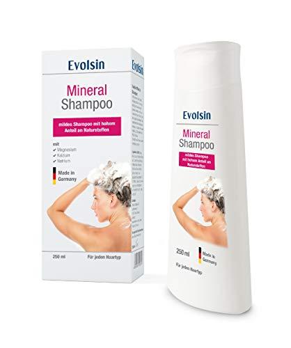 Evolsin® Mineral Shampoo I 250ml I Lindert Juckreiz bei trockener, gereizter und irritierter Kopfhaut bei Ekzem, Neurodermitis und Psoriasis Shampoo