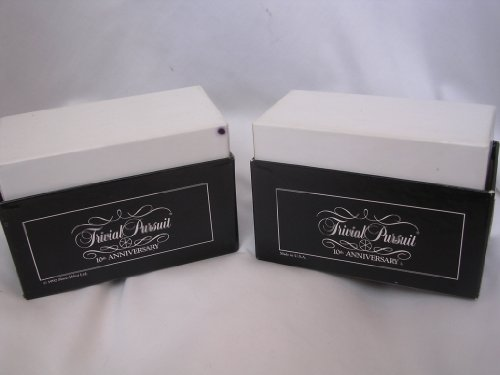 Trivial Pursuit 10th Anniversary Subsidiary Card Set ; Question and Answer Cards in 2 Card Boxes for use with the Master Game ; 1990s 1992
