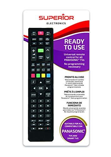 Telecomando universale per tutti i televisori PANASONIC pronto all'uso non richiede programmazione.