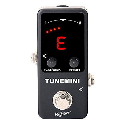 Mr. POWER Gitarre Bass Pedal-Tuner Mini Größe Chromatisches