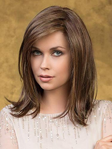 Effect Hair Topper Color Bernstein Mix - Ellen Wille Wigs 11' Top Piece Large Base Natural Density Heat Friendly Futura Synthetic Lace Front Monofilament Top Bundle MaxWigs Hairloss Booklet
