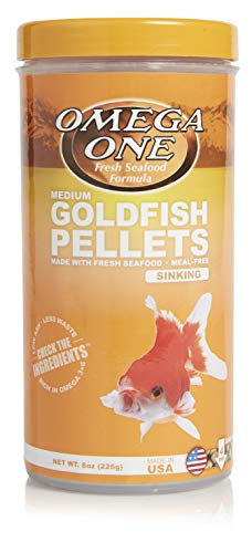 Omega One Goldfish Pellets, Sinking, 4mm Medium Pellets, 8 oz