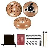 6 Pulgadas Tambor De Lengua De Acero, 8 Tonos Instrumento De Percusión, Varios Colores Hang Drum Instrumento
