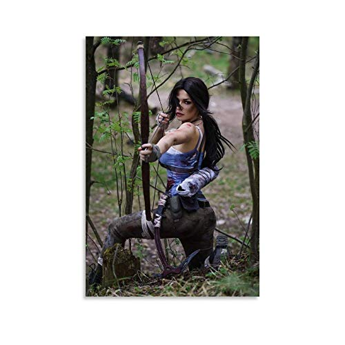 NIGE Tomb Raider Game Lara Croft Cosplay Canvas Art Poster and Wall Art Picture Print Modern Family Bedroom Decor Posters 08x12inch(20x30cm)