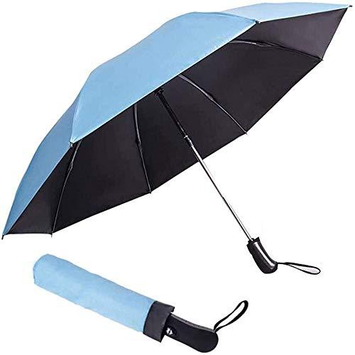 Paraguas plegable inverso automático de apertura a prueba de viento para coche, portátil, a prueba de sol y lluvia, paraguas para hombres y mujeres, 106 cm (color: G) - -