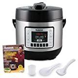 NUWAVE NUTRIPOT 6-Quart DIGITAL PRESSURE COOKER with Sure-Lock Safety System; Dishwasher-Safe Non-Stick Inner Pot; 11 Pre-Programmed Presets; Detachable Pressure Pot Lid for Easy Cleaning; and Chef Tested 200 Recipe Pressure Cooking Cookbook. (6-Quart)