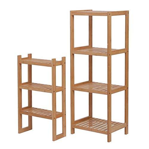 Ghvi Estante de almacenamiento de bambú para baño, zapatero, cocina, dormitorio, estante multifuncional y extraíble de 7 capas, 72 x 43,5 x 160,7 cm