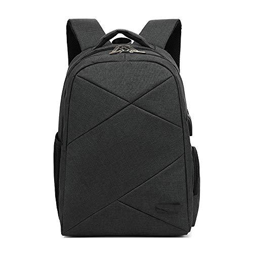 Xiao-OZ Smart USB Charging Backpack, Casual Business Men's Bag, Waterproof Notebook Backpack,Breathable,Waterproof,wear-Resistant Shock-Resistant,Lightening Oxford Cloth Bag (Color : Dark Gray)