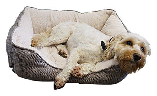 Rosewood 04416 Hundebett Small aus kuschelig weichem Pelz, quadratisch und mit Rutschfester Unterseite, Maschinenwäsche, 46x36cm