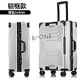 K-ONE Robot Frame 20/24 / Inch SizeMaleta de Viaje de la Marca Spinner de Equipaje, Plateada, 24'Tendencia de Moda