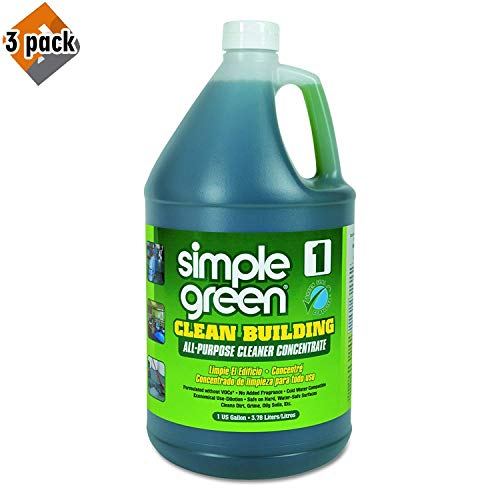 Simple Green Industrial SMP11001 Clean Building All-Purpose Cleaner Concentrate, 1gal Bottle - 3 Pack